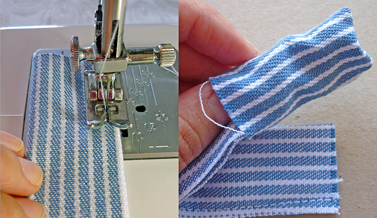 3 How to, How to make a fabric bracelet. Making the belt and strap.