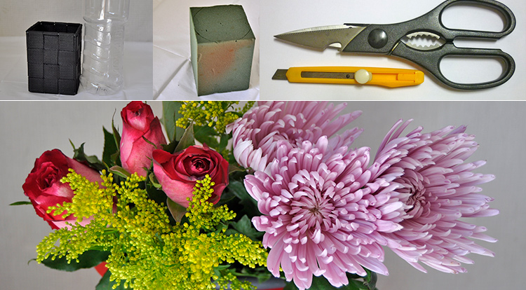 3 How to - How to make flower arrangement. You will need.
