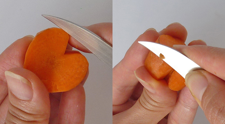 3 How to, How to make shaped carrots.