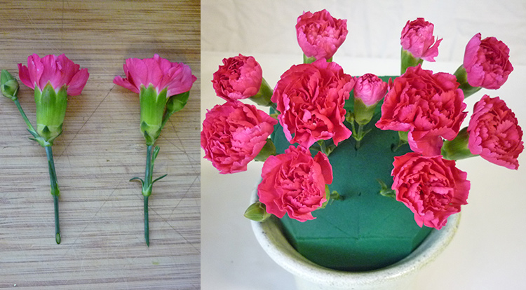 3 How to, How to arrange flowers with love shape. Inserting a love shape.