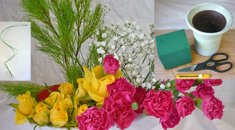 3 How to, How to arrange flowers with love shape. You will need.