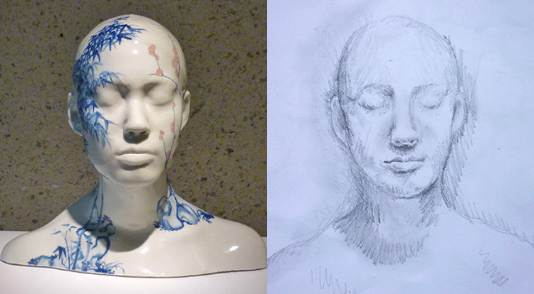 3 How to, 5-steps-to start drawing, Ah Xian(China China - Bust no.3)