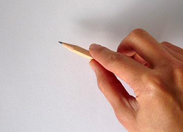 3 How to - 5 steps to start drawing. 2 ways to hold pencil