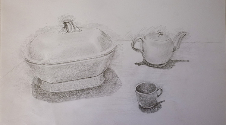 3 How to - 5 steps to start drawing. Relocate objects