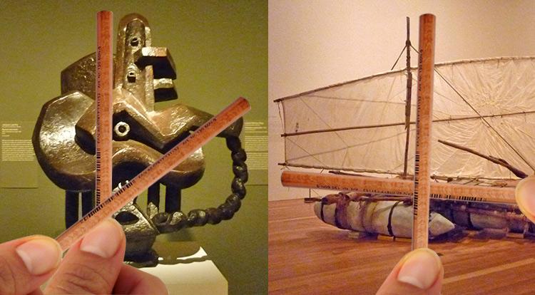 (Left)artist:Jacquest Lipchitz, art work:Musical instruments. (Right)Scottish artist lan Fairweather.