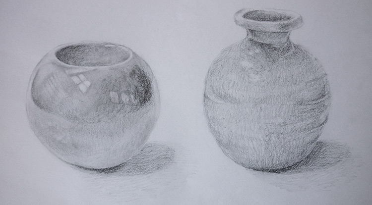 3 How to - 5 steps to start drawing. Understand material and texture