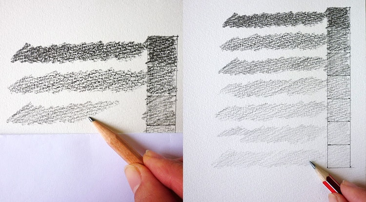 3 How to - 5 steps to start drawing. draw shading
