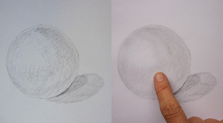 3 How to, How to draw light, shading and texture. lights and shadings. Practice to draw a sphere with texture.