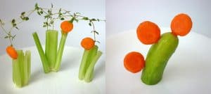 Carrot art lollipop-shaped