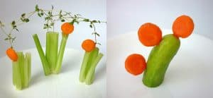 3 How to, carrot art with lollipop-shaped