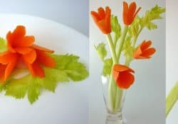 3 How to, carrot flower