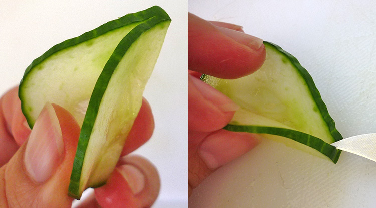 Cucumber flower with 5 petals, prepare cucumber petals step 4