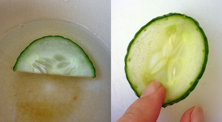 Cucumber flower with 5 petals, soften cucumber and keep it fresh step 1