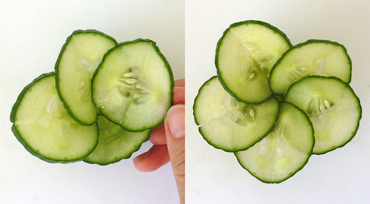 Cucumber flower with 5 petals, organize cucumber petals and stamen step 1