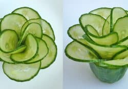 3 How to, cucumber flower with 12 petals