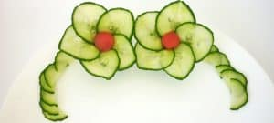 Cucumber flower with 5 petals