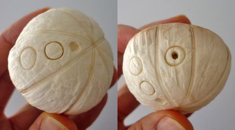 Mushroom art, a quick mushroom with stamping circles, making circle patterns step 5