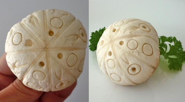 3 How to, Mushroom art, using regular and repeating patterns on a mushroom
