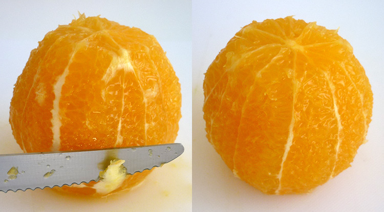 Orange art, remove orange peel step 7