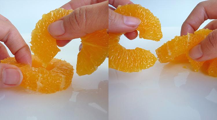 Orange art, Orange chain, chain orange together step 5