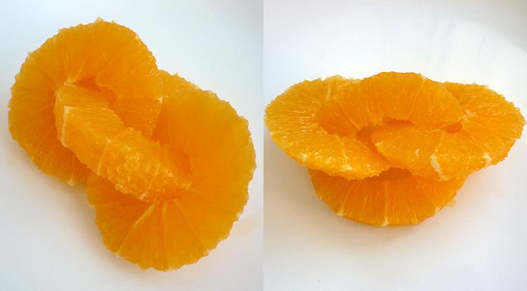 Orange art, Orange chain, chain orange together, finish