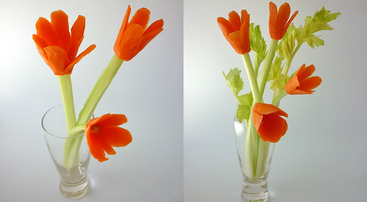 3 How to, Carrot flower, carrot flower arrangements