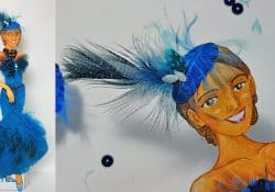 How to make a feather Fascinator and a evening necklace