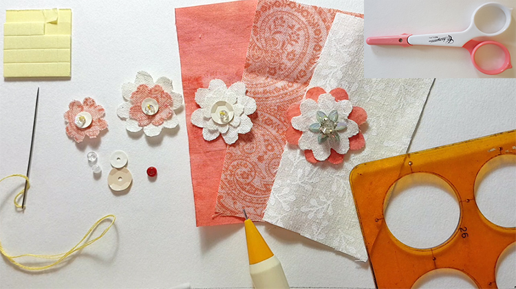 How-to-make-a-simple-flower-with-bead-and-sequins-needs