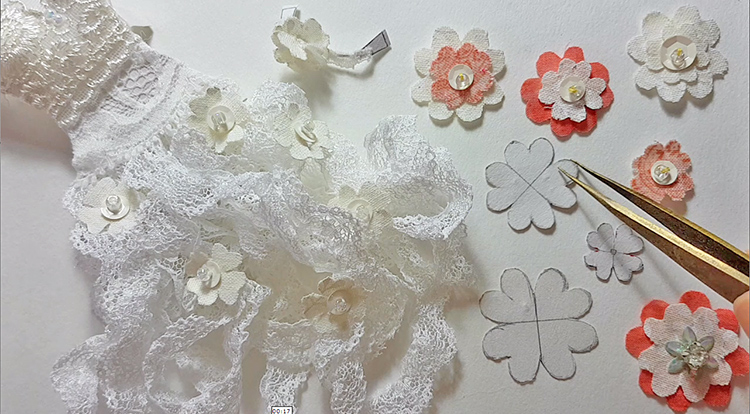 How-to-make-a-simple-flower-with-bead-and-sequins-practice-payoff