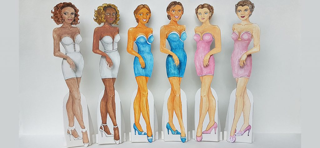 How to make a standing paper doll