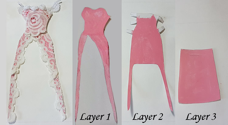 How to make a princess style dress with three layers in three layers.